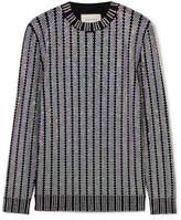 Gucci Crystal-embellished Stretch-knit Sweater - Black