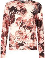 River Island Womens Pink floral print pyjama top