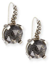 Stephen Dweck 12mm Faceted Black Quartz Drop Earrings