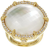 Judith Ripka As Is Sterling & 14K Gold Clad Mother-of-Pearl Doublet Ring