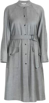 Diana Arno Sophia Belted Wool Dress