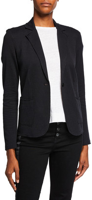 Majestic Filatures Cotton-Cashmere Double-Face One Button Blazer