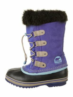 Sorel Suede Colorblock Pattern Lace-Up Boots Purple