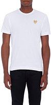 Comme des Garcons Men's Playful Heart Cotton T-Shirt-WHITE