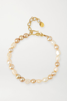 Chan Luu Gold-plated Pearl Anklet - one size