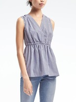 Banana Republic Crossback Peplum Top