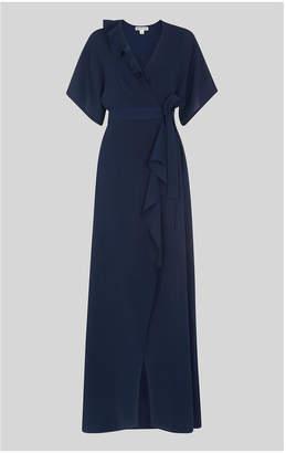 Whistles Nova Frill Wrap Maxi Dress