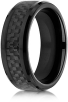 Ice Cobalt 8mm Comfort-Fit Ring with Black Carbon Fiber Inlay