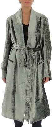 Ann Demeulemeester Velvet Robe Coat