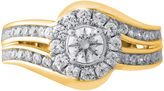 JCPenney MODERN BRIDE Opulent Diamond 1 CT. T.W. Certified Diamond 14K Yellow Gold Bypass Ring