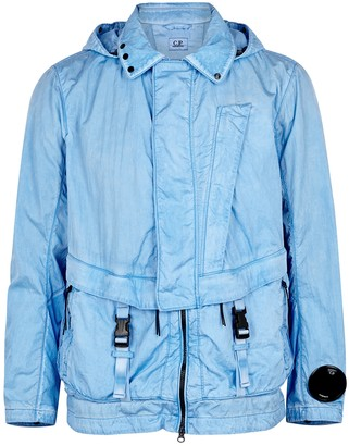 C.P. Company Light blue hooded shell jacket
