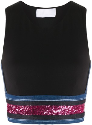 NO KA 'OI Sequin Embroidered Sport Tank Top