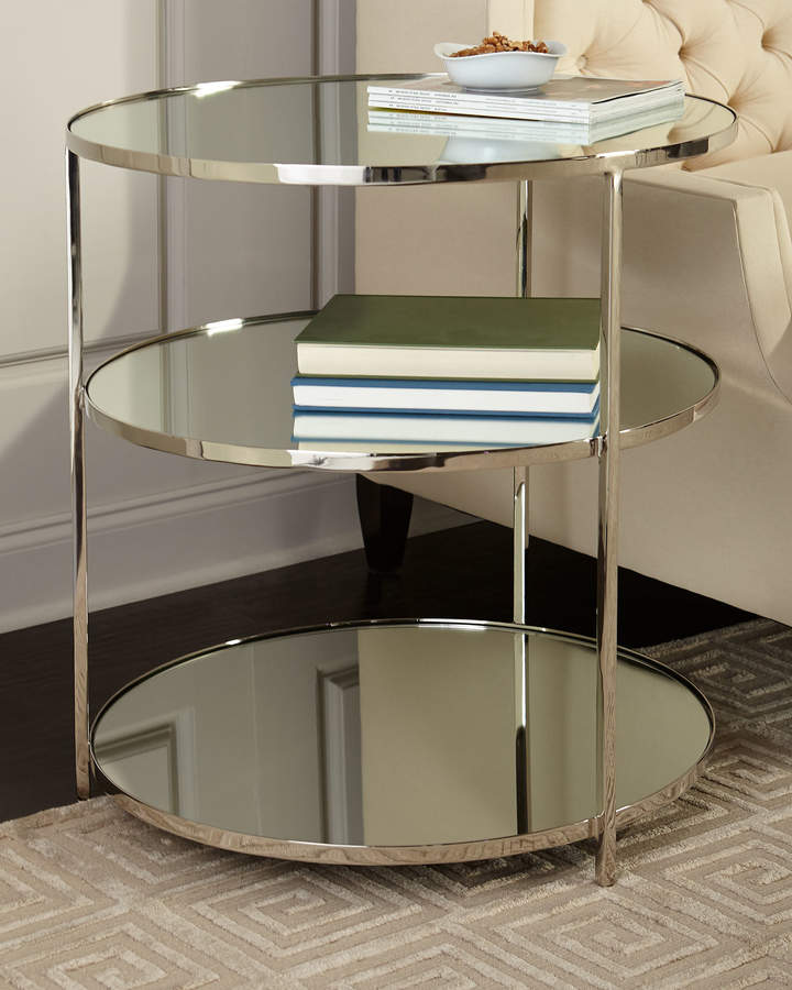 Arteriors Percy Mirrored Side Table