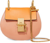 Chloé Drew Nano Textured-leather Shoulder Bag - Saffron