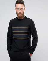 Paul Smith Crew Sweatshirt Chest Stripe in Black