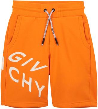 Givenchy Boy's Abstract Logo Drawstring Shorts, Size 4-10