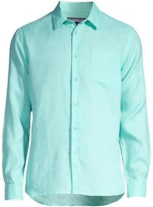 Vilebrequin Caroubis Linen Button-Down Shirt