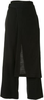 Y's Apron-Detail Trousers