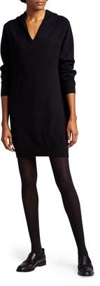 Majestic Filatures Cashmere Long-Sleeve Hoodie Dress