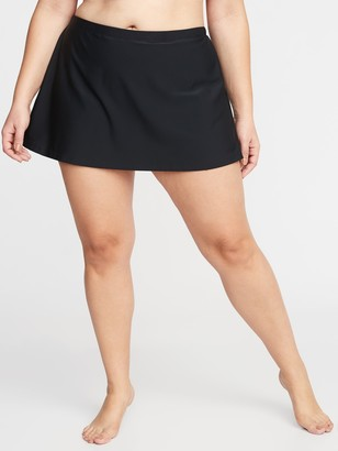 Old Navy High-Waisted Secret-Slim Plus-Size Swim Skirt