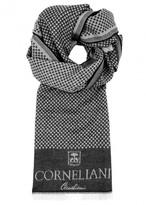 Corneliani Monochrome Spotted Reversible Wool Scarf