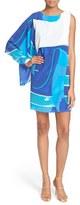 Tracy Reese Print Cascade Silk Shift Dress