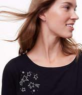 LOFT Star Embroidered Long Sleeve Tee