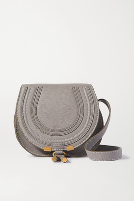 Chloé Marcie Mini Textured-leather Shoulder Bag - Gray