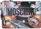 Moschino Iconic Transformers Patent Leather Pouch