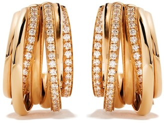 de Grisogono 18kt Rose Gold Coil Diamond Earrings