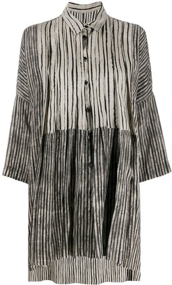Masnada Oversized Striped Shirt