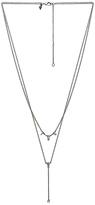 Rebecca Minkoff Multi Stone Layered Y Necklace