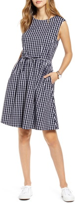 1901 Tie Waist Gingham Dress