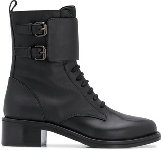 Le Silla Jessi lace-up leather boots