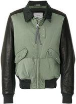 Lanvin contrast bomber jacket