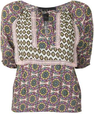 Nicole Miller Abstract-Print Short-Sleeve Dress