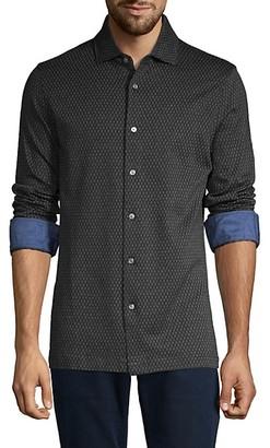 Bugatchi Printed Long-Sleeve Shirt