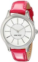Nine West Women's NW/1703SVPK Silver-Tone Watch with Pink Strap
