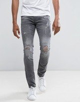 Blend Cirrus Skinny Fit Ripped Jean Grey Wash