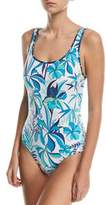Tommy Bahama Reversible Lace-Back One-Piece Swimsuit