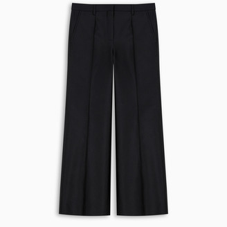 Givenchy Shiny blue cropped trousers
