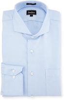 Neiman Marcus Classic-Fit Regular-Finish Diamond-Print Dress Shirt, Light Blue