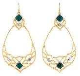 Alexis Bittar Chrysocolla & Crystal Mosaic Drop Earrings