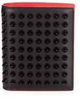Christian Louboutin Paros bi-fold spike-embellished leather wallet