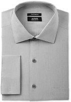 Alfani Men's Classic/Regular Fit Performance Stretch Easy-Care French Cuff Gray Step Twill Dress Shirt, Only at Macy's