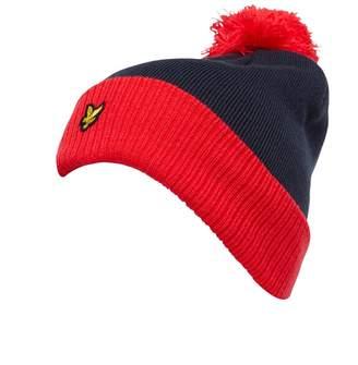 Lyle & Scott Vintage Mens Bobble Hat Red/Navy