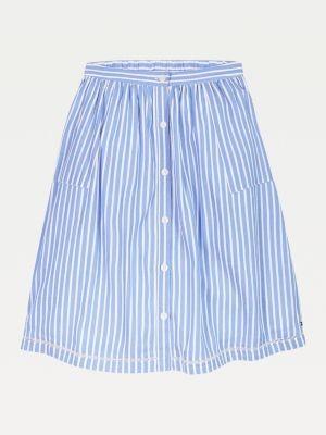 Tommy Hilfiger Stripe Lace Ladder Detail Skirt