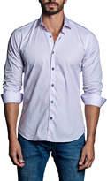 Jared Lang Striped Sport Shirt, White/Pink