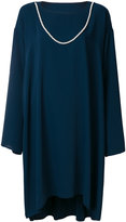MM6 MAISON MARGIELA oversized draped dress with faux pearl detail