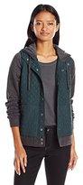 RVCA Women's Unlabel Fleece Hooded Quilted Puffer Jacket